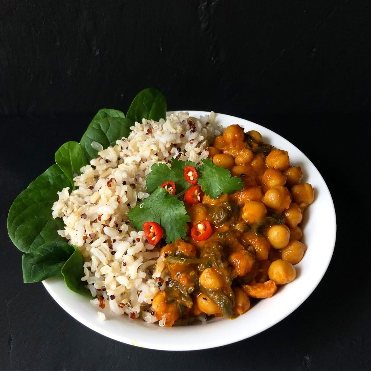 Spinach-Chick-pea-curry